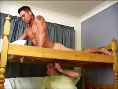 Hunk gets sucked from below