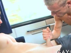 Muscle hunk gets pounded down his throat