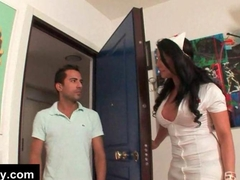 Horny tranny nurse seduces patient