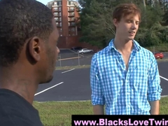 Blackey gets his dick sucked hard by a sissy