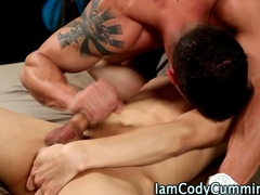 Pornstar hunk and twink jerking and sucking