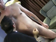 Straight guys handjob and toy massage