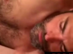 Hungry redneck bear sucking on thick cock