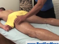Straight guy amateur gets hard during a massage