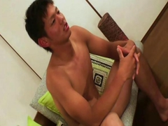 Japan sports handsome boy gets his dick sucked