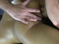 Straight latino gets ass fingered