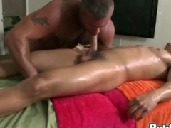 Oily Ass Massage and a hard muscular fuck