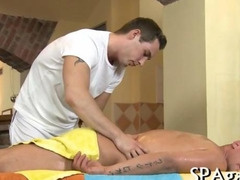 Wet blowjobs for masseur