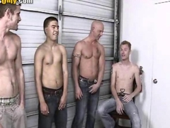 Gay Deepthroating Orgy with hot guys
