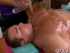 Explicit and sensual massage with two gay hunks