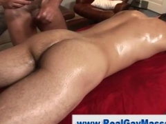 Straight tight ass get slammed in a massage gay fuck