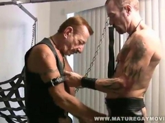Hot Leather Daddies Fucking In A Sling bed really vigorously