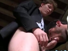 Euro twink rams ass in public