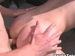 Stud gets fucked doggystyle by a big cock
