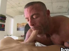 Muscle guy dudes fucked in a smoking hot sex scene