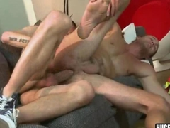 Big cock stud gets his hairy ass fucked bareback