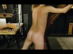 BDSM bondage boy flogged and whipped