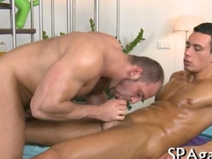 Gay dudes gets lusty drilling the tight hole