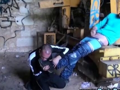 Gay amateur guys fuck in an abandoned building