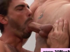 Cock sucking hunk gets his sweet ass rimmed
