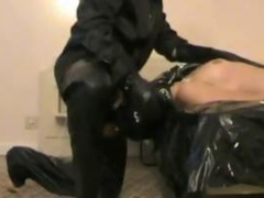 Gay dude gets his dick sucked by a masked man