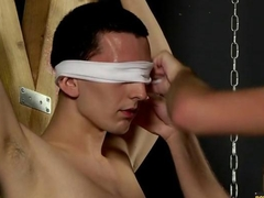 Skinny Slave Cums Hard as he is sucked off