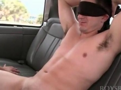 Teen dude and his first gay oral experience