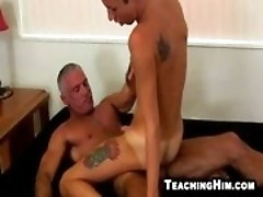Mature stud Josh Ford fukcing a horny young hunk