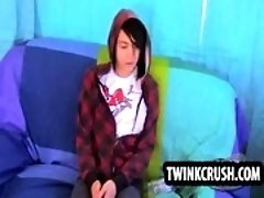 Horny emo twink Roxy Red sucking on a hard cock
