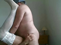 daddy in stockings being fucked.