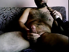 HAIRY TURK STROKIN AND SMOKIN - NO CUMSHOT