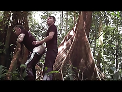 Randon Strait gets fucked in rainforest