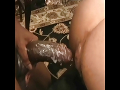 nice interracial bareback and creampie