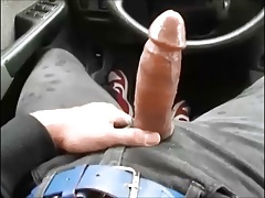 nice twink bottem gets huge cumshot from top