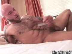 Pierced and tattooed drake jertking off part3