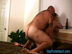 Big tatooed bear wrecking poor twink by GayPrideVault