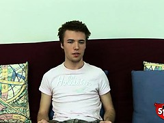 Straight boy Daniel does a casting couch video for Broke