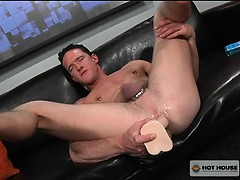 Jackson Lawless Using His Big Long Dildo While He Jerks Off