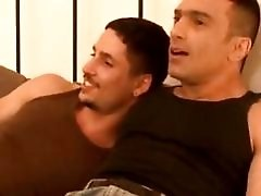 Two guy become horny when talking about gay sex