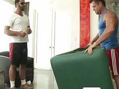 Dude in sunglases tries to seduces a rubber to gay sex
