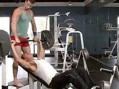 Gay sex at the gym
