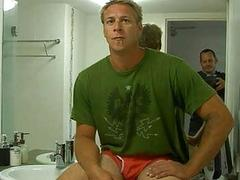 Mature gay busy with cock