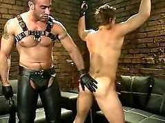 A slave boy being whipped as a punishment