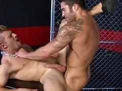 Gay studs being turned on by domination