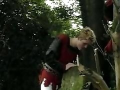 Bad guys are seeking a victim in a forest to fuck him hard