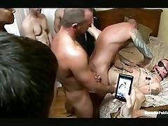 Gay stud gets fucked in bondage
