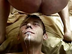 Gay Swallows Cum After Anal Fuck