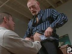 old gay guys fuck in office