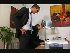 Gay boss gets turned on by hot employee