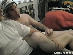 Hot fag is sucking big white cock part2
